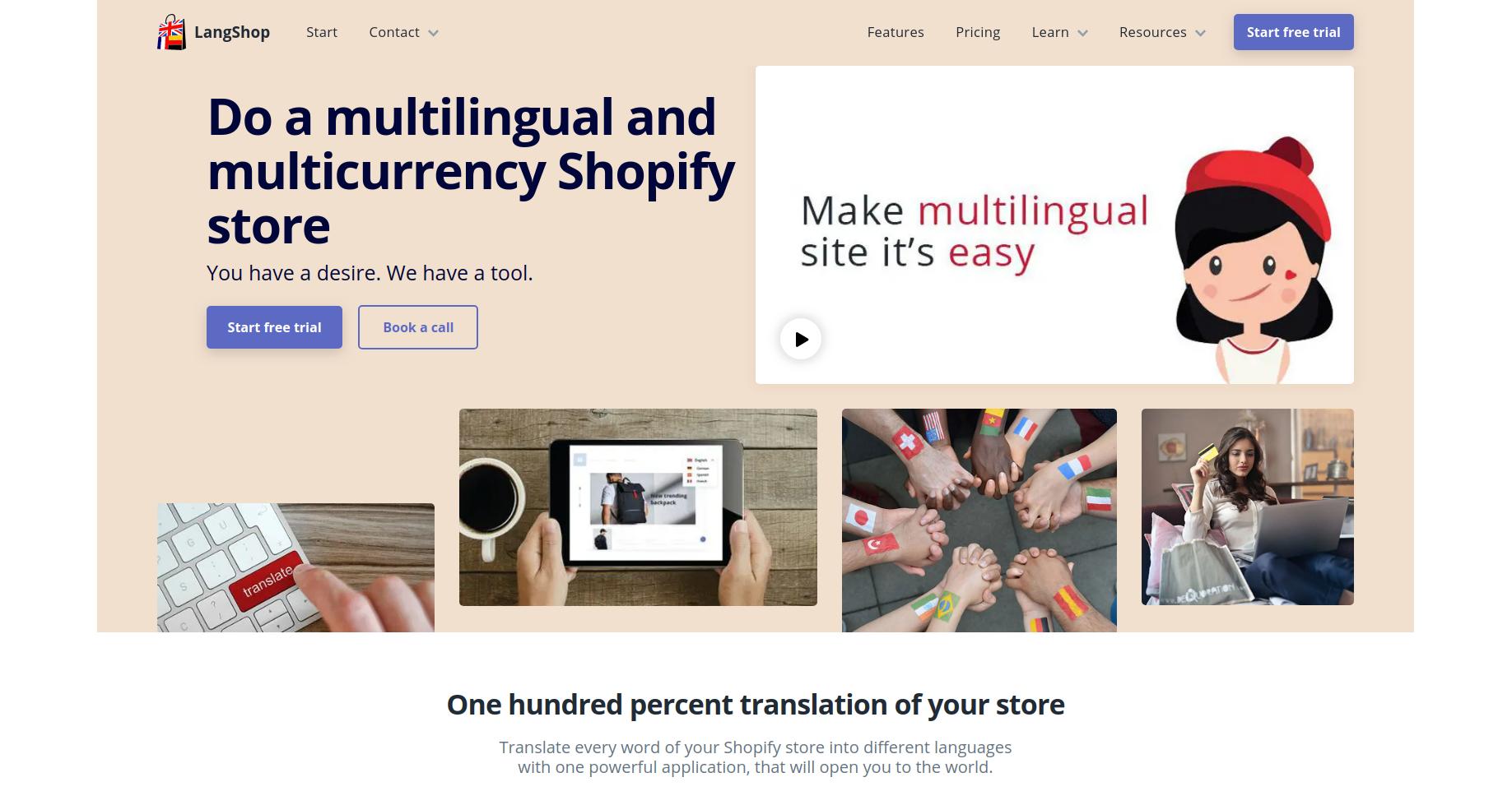 LangShop - Shopify