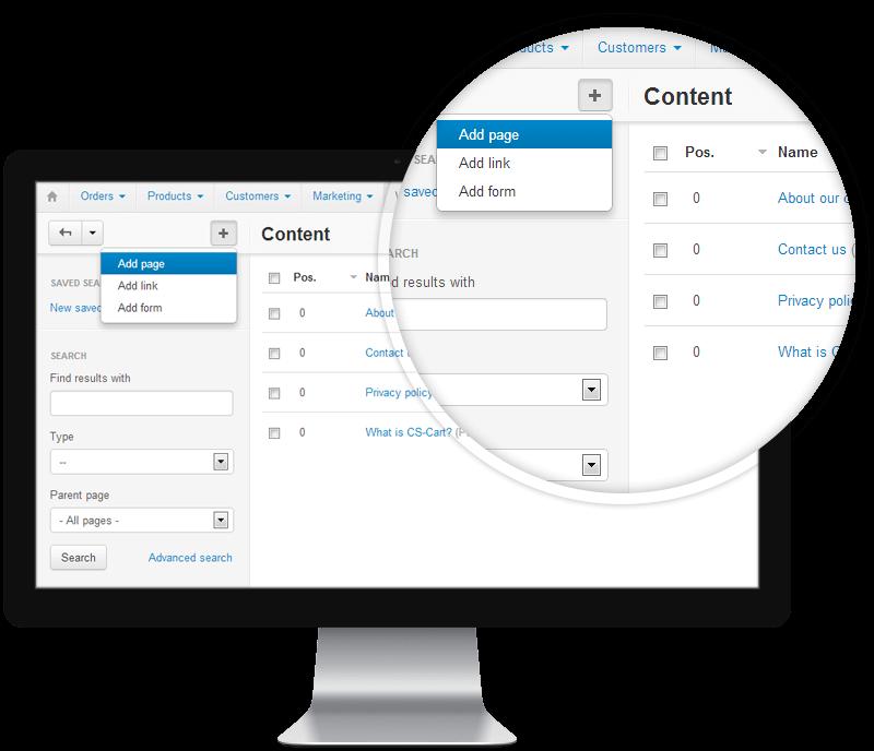 CS-Cart Admin Interface